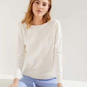 New NWT Loft ivory stitch puff sleeve sweater